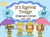 It's Raining Today /ai/ /ay/ Word Work Center