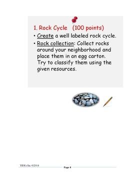 It's Rocky: Project Choice Board