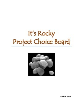 It's Rocky: Project Choice Board