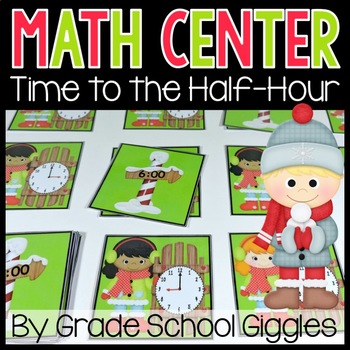 Telling Time to the Hour and Half Hour Center