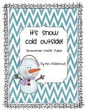 It's Snow Cold Outside {snowman math tubs}