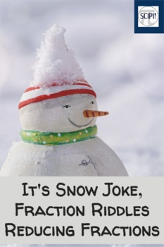 It's Snow Joke - Winter Fraction and Percent Word Riddles