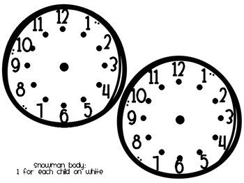 It's Snow Much Fun to Tell Time! (Time to 5 Minute Intervals)