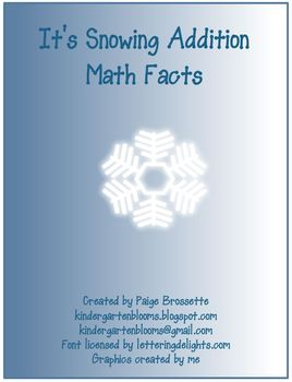 It's Snowing Addition Math Facts