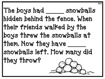 It's Snowing! CGI Math Word Problems