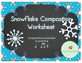 Snowflake Composing: Quarter Note, Two Eights, Quarter Rest