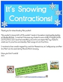 It's Snowing Contractions!~FREEBIE!