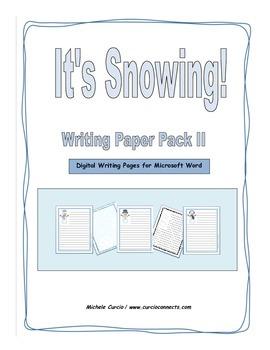 It's Snowing II Digital Writing Pack