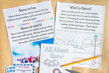 Snow - Nonfiction Activity Pack