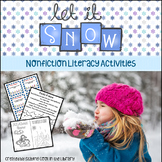 Snowing - Non-fiction Literacy Activities