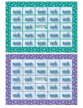 Winter Noun and Verb Bingo
