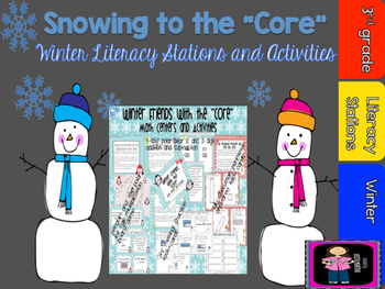"""It's Snowing To The """"Core"""" Winter Literacy Activities and Stations"""