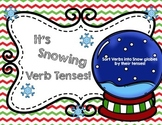 It's Snowing Verb Tenses: Winter Past, Present, Future Snow Globe Verb Sort