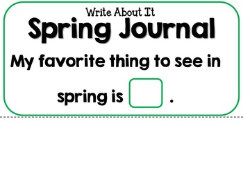 It's Spring! Adapted Interactive Book {Autism, Special Ed, Early Childhood}