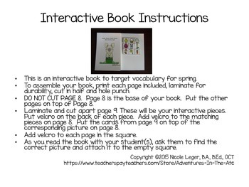 It's Spring!  An Adapted Vocabulary Book
