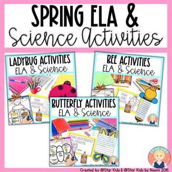 BUTTERFLIES, LADYBUGS, AND BEES Activities for Kindergarten and First Grade