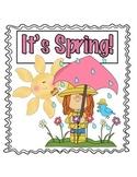 Language and Math Activities - Spring Theme