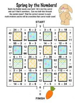 Language and Math Activities - Spring Theme