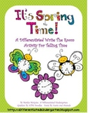It's Spring Time-A Differentiated Telling Time Write the Room Activity