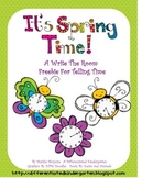 It's Spring Time - A Telling Time Write the Room Freebie