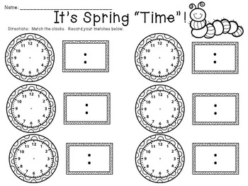 Telling Time to the Hour, Half Hour and Quarter Hour
