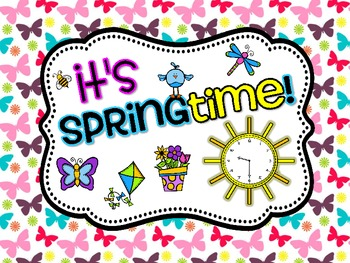 It's Springtime! {Telling time to the hour and half hour}