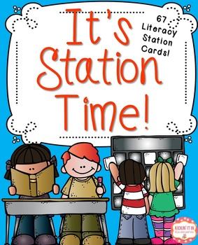 It's Station Time {67 Litearcy Station Cards}