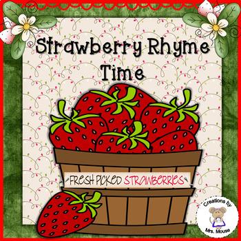 Phonemic Awareness-Rhyming - Strawberry Rhyme Time
