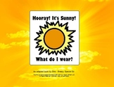 It's Sunny! What do I Wear? ☼ Adapted Book for Special Ed