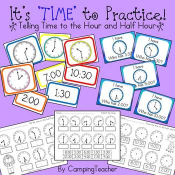 It's 'TIME' to Practice! - Activities for Telling Time to