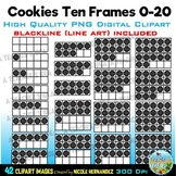 Ten Frames 0-20 Clip Art for Personal and Commercial Use