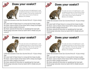 It's The Weekly Puzzla & Brainteaser Challenge: Does Your Ocelot?
