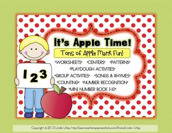 Apple Math and Numbers Activities