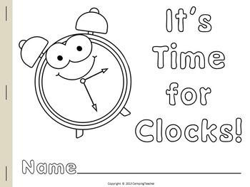 It's Time for Clocks A Book and Non Prep Printables about Clocks and Time