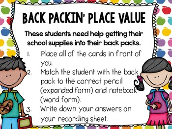 It's Time for School: 10 Back to School Math Centers