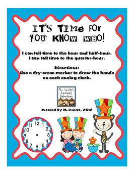 It's Time for You Know Who! Time (Hour, Half-Hour & Quarter-Hour)