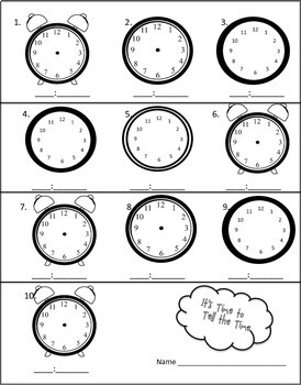Telling Time Task Cards to Hour, Half Hour and Minute