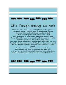 It's Tough Being an Ant Poem