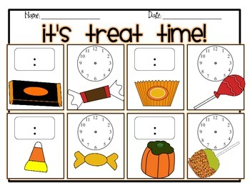 It's Treat Time! Telling Time Scoot!