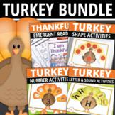 Preschool Thanksgiving Turkey Activities | Math & Literacy