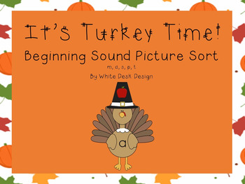 Its Turkey Time! Sound Sort Bundle!