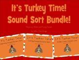 Its Turkey Time! Sound Sort Bundle
