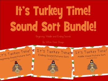 Its Turkey Time! Sound Sort Bundle!