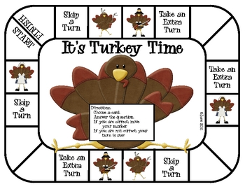 It's Turkey Time Game--Time to the Hour