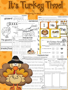 It's Turkey Time: Non-fiction activities and a book study!