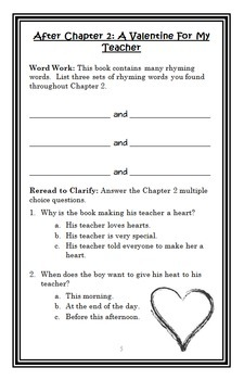 It's Valentine's Day (Jack Prelutsky) Book Study / Reading Comprehension