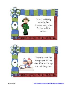 "It's Winter! ""Compound Sentences"" Literacy Task Cards"