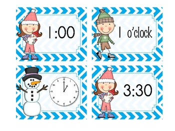 It's Wintertime {Telling time to the hour and half-hour}