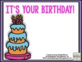 Birthday Math And Literacy Centers