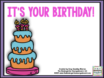 It's Your Birthday!  A Common Core Math And Literacy Cente